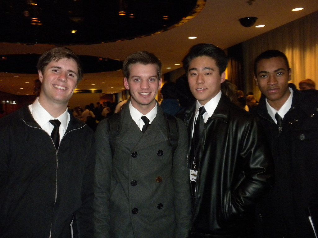 Fellow Carnegie Honor Band Students who bunked with Paul during his stay at the Hilton during their five day visit.