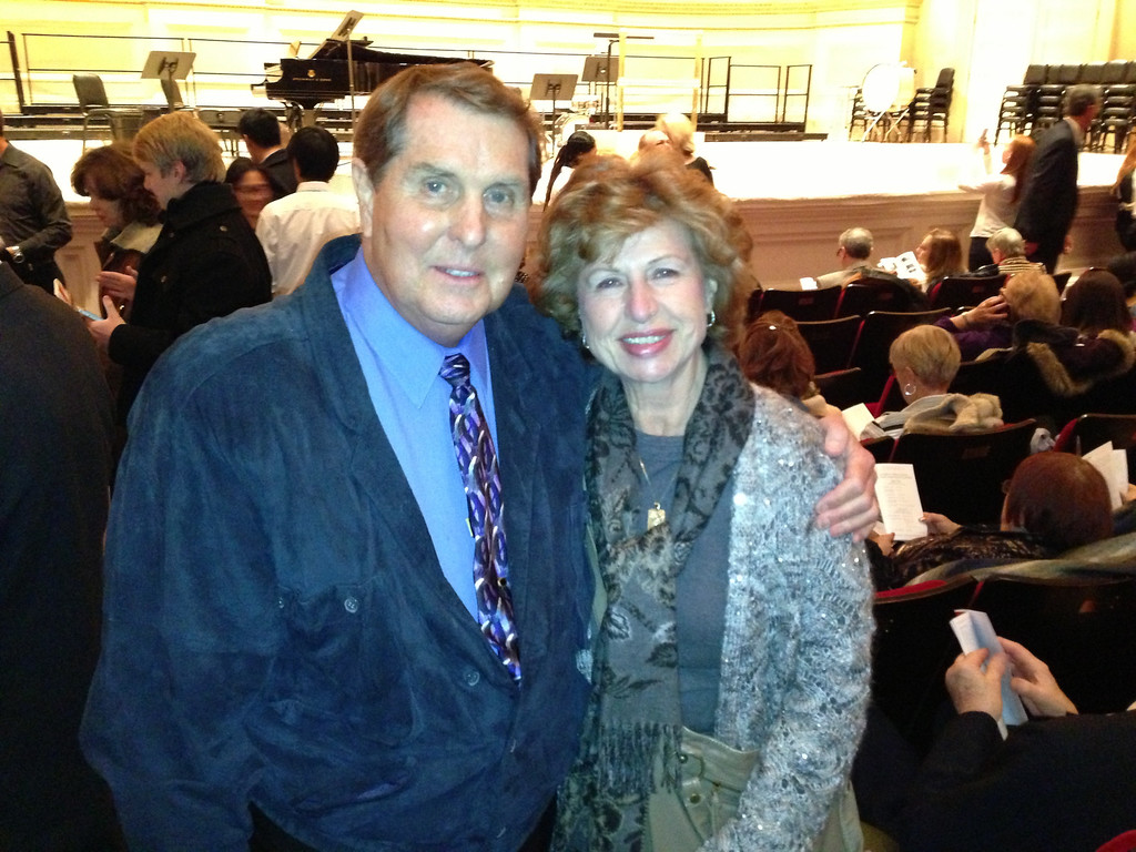 Tom and Betty Cotton at Carnegie Hall