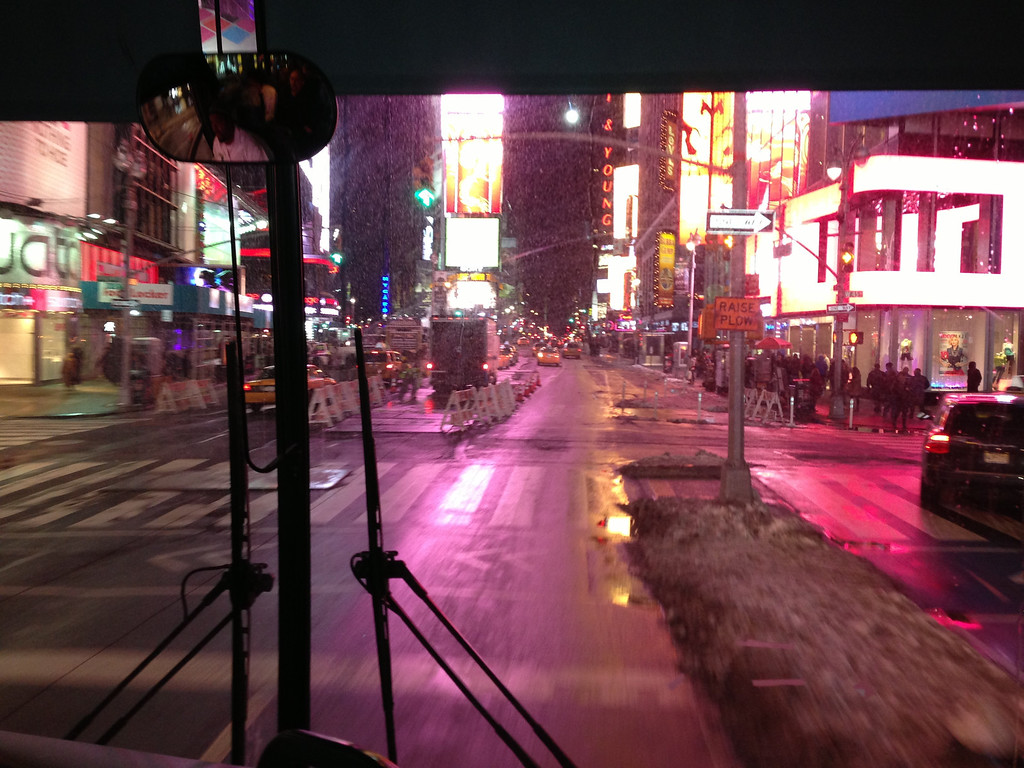 On our way to Carnegie looking toward Times Square