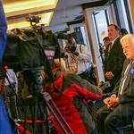 Howard Schnellenberger being interviewed.