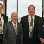 Zach Fisher, Bobby Clarkson, Steve Longhurst and Howard Schnellenberger.