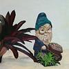 """Gnome.  Oil on masonite.  20 x 16"""".  Scott and Shoko Kremer Collection."""