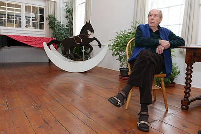 Paul Matisse at his Kalliroscope Gallery in Groton talks about his family and their art. SUN/JOHN LOVE
