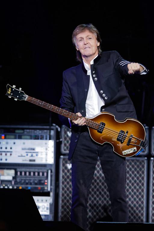 . Paul McCartney live at Little Caesars Arena in Detroit, Michigan on 10-1-2017.  Photo credit: Ken Settle