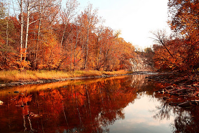 Mill Hollow captures the wonder of the autumn season.