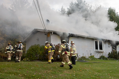 2 Alarm House Fire - Millbury Rd, Oxford, MA - 10/22/18