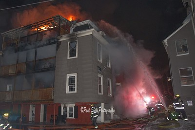 3rd Alarm Structure Fire - West St, Worcester, MA - 2/9/18