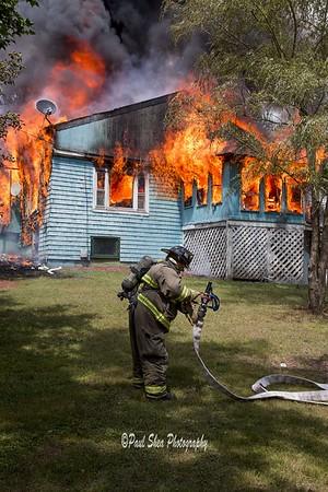 3 Alarm Structure Fire  - Kitteridge Rd, Spencer, MA - 8/3/17