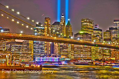 9/11 Tribute Lights - Multiple Locations, NYC Area - 9/11/19