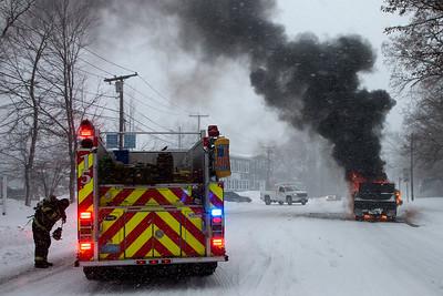 Truck Fire - Worcester, MA - 1/4/18