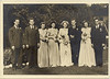 Wedding party photo including Helen Lantz
