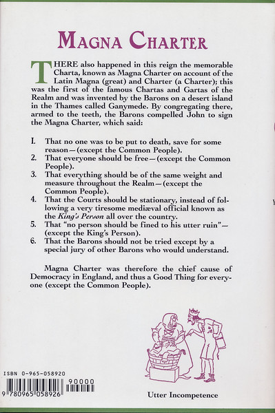 1066 And All That: back cover about Magna Charta