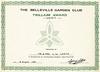 Belleville Garden Club Trillium Award endorsed Merit to Mr. and Mrs. L.W. Lantz 18 August 1981. Merit for having won their fourth Trilliam Award.