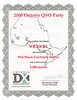 2000 Ontario QSO Party certificate First Place Cochrane District for Paul Lantz. Of course he was the only Cochrane District participant. Ontario DX Association.