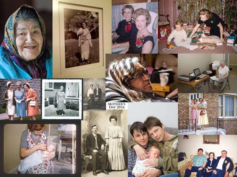 Mother's Day Collage 2016. Theresa Metatawabin, Helen Boyle, Helen Lantz, Jean Lantz, Margaret Arpin, Betty Tully, Lydia Hamel, Katherine Lantz, Phyllis Gibney, Donna Blaik, Lorraine Bremner, Denise Lantz