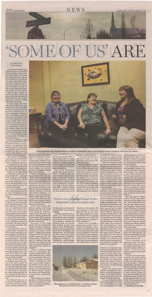 National Post 2013 January 19 page A20 - The survival code of James Bay - for modern reserves, success is in balancing tradition and capitalism. Photo of Carmen Edwards, Claudette Solomon and Helen Knapaysweet