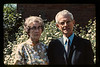 Jean and Lloyd Lantz in backyard. Ektachrome slide developed by Paul Lantz.