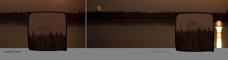 yes, mirror lockup makes a difference, not locked up on left, locked up on right both shots f2  and 4 second exposure, 135mm lens on Canon 5D2