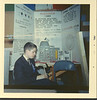 Paul Lantz at Science Fair at the Armouries in Belleville 1967. Grade Nine project on Plutonium.