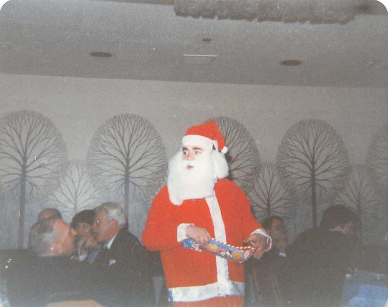 Paul Lantz as Santa Claus at Hughs Amys Christmas party 1980