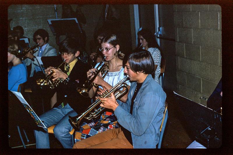 Paul Lantz graduation from high school 1971. Peter Lantz in band.