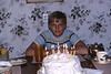 Peter Lantz with his 14th birthday cake. 1970.