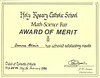 Donna Blaik Award of Merit 25 February 1982 Holary Rosary Catholic School Math-Science Fair.