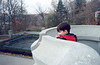 David Hunter on the parapet at Casa Loma 1999 November 19th.