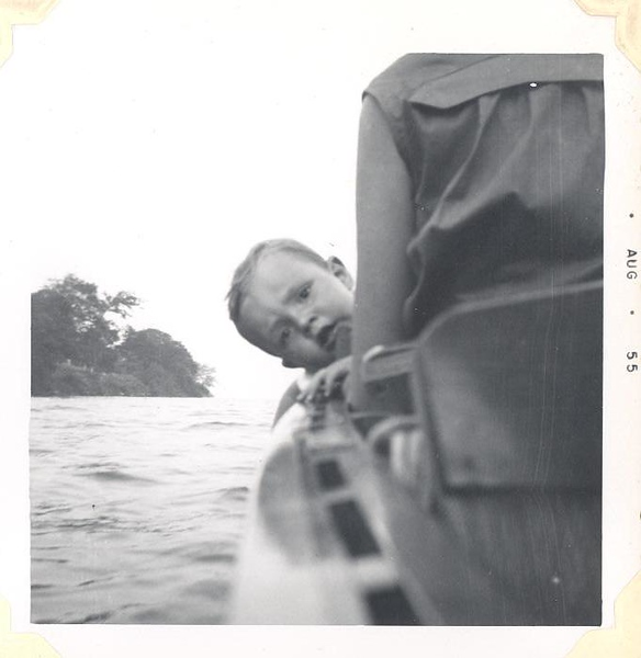 Paul's first boat ride 1955, not sure about this.