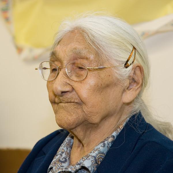 Marguerite Wabano on her 103rd birthday