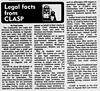 1978 September 28 Excalibur Paul Lantz article about Community and Legal Aid Services Programme at Osgoode Hall Law School. Service provided by law student volunteers.