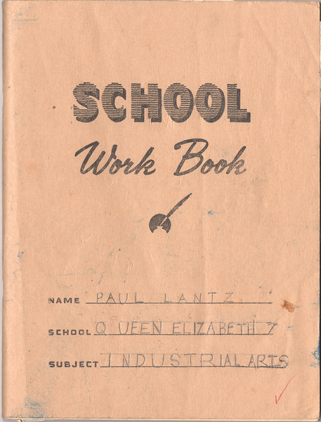 Industrial Arts Notebook - Grade Seven 1964-65 - cover