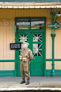 On the lookout at Horsted Keynes