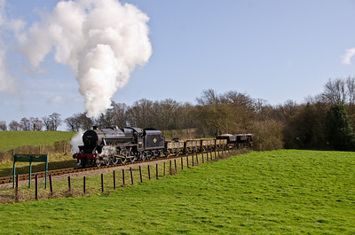 45231 approaching Rock Cutting