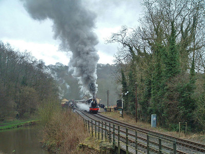 7821 'Ditcheat Manor' departing Consall