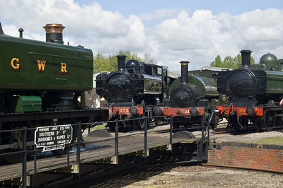 Tank engines at the turntable