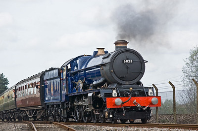 6023 'King Edward II' on the demonstration line