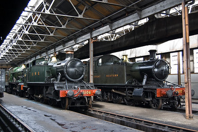 6106 and 5572 inside the main shed