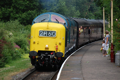 55022 'Royal Scots Grey' arriving at Summerseat