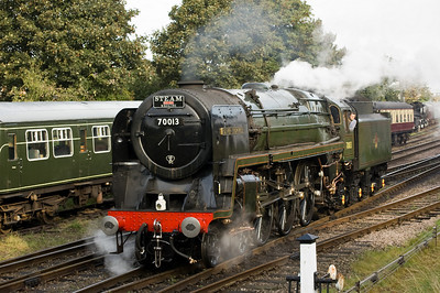 70013 'Oliver Cromwell' at Loughborough