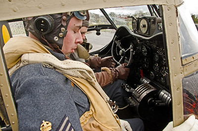 In the cockpit