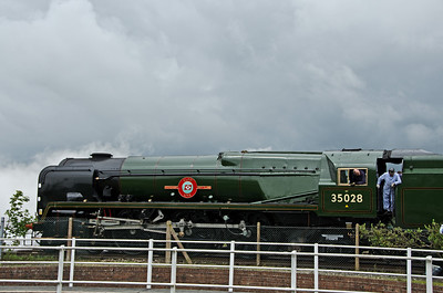 35028 'Clan Line' at Yeovil Junction