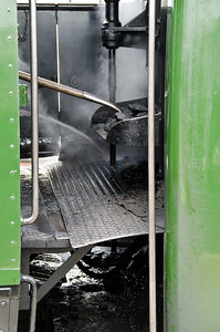 The footplate is prepared for the return run at Weymouth