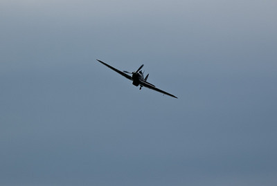 A fly past by a Hurricane at Ropley
