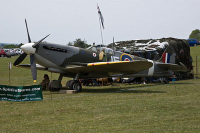 A replica Spitfire at Ropley