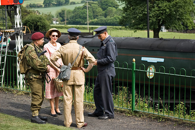 Military personnel at Ropley