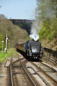 60007 'Sir Nigel Gresley' approaching Goathland