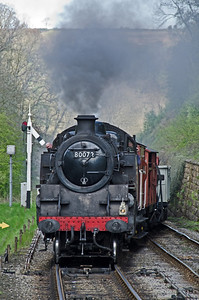 80072 arriving at Goathland