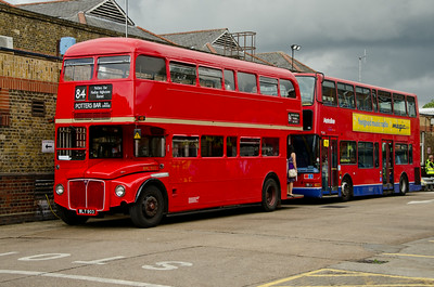 RML903 outside Potters Bar garage