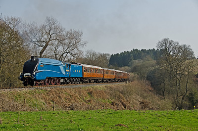 4464 'Bittern' heads towards Hay Bridge just after passing Sterns
